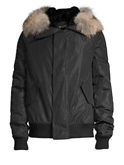 9ecf799d8389 QUICK VIEW. Yves Salomon. Fur Nylon Jacket