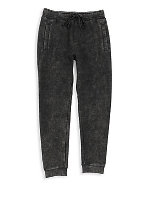 Image of An on-trend mineral wash adds stylish definition to these soft sweatpants for a streetwear look. Elasticized waist with drawstring Side welt pockets Back patch pocket with logo detail Ribbed cuffs Cotton/polyester Machine wash Imported. Children's Wear -
