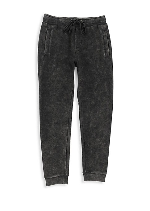 Image of An on-trend mineral wash adds stylish definition to these soft sweatpants for a streetwear look. Elasticized waist with drawstring. Side welt pockets. Back patch pocket with logo detail. Ribbed cuffs. Cotton/polyester. Machine wash. Imported.