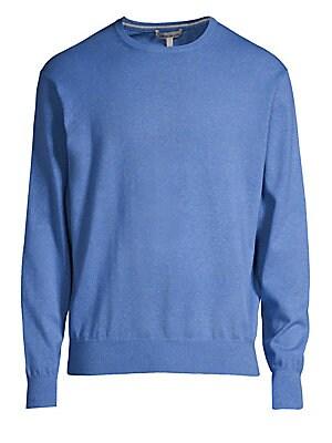 Cotton Blend Crewneck Sweater by Peter Millar