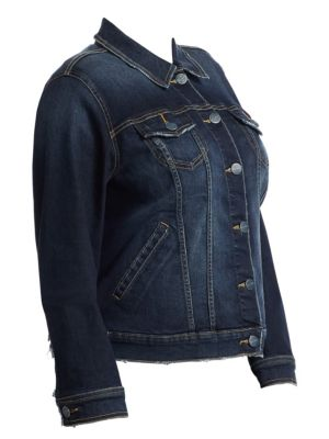 SLINK JEANS Stretch Denim Jacket in Bella