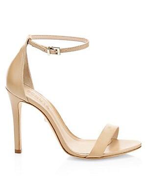 4f456cab44a0 Tory Burch - Ellie Metallic Leather Ankle-Strap Sandals - saks.com