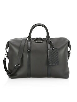 Leather Duffel Bag Black Quick View Product Image