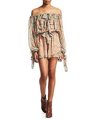 80865c3b0a56 Zimmermann - Tempest Gathers Silk Playsuit - saks.com