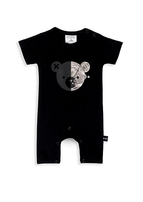 Baby Girls Robo Bear Short Romper