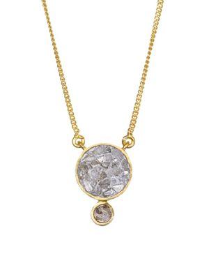 SHANA GULATI Ophelia Sliced Raw Diamond Pendant & 18K Yellow Gold Vermeil Necklace
