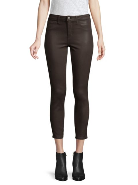 L'Agence Margot High-Rise Ankle Coated Skinny Jeans | SaksFifthAvenue