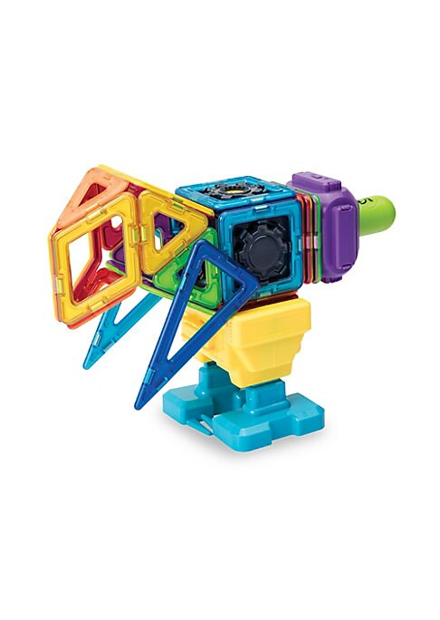 Image of Introducing the new Magformers 47-piece Sensor Block Set! With more than 30 magnetic pieces and accessories, building has never been easier! Attach wheels to squares and triangles to gear blocks; the possibilities are endless! With motion, sound and light
