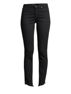 Sophia High Rise Ankle Stovepipe Jeans In 4 Years Fazed, Moonless