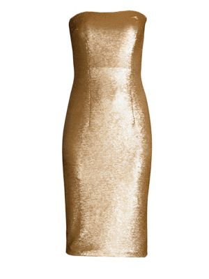 Barker Sequined Strapless Sheath by Black Halo
