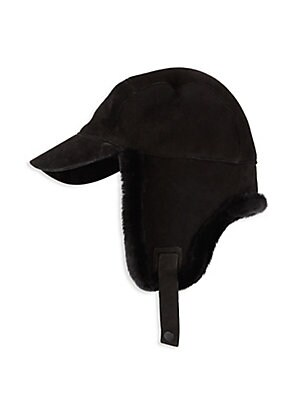 Ugg - Shearling   Leather Trapper Hat - saks.com be9779ad1695