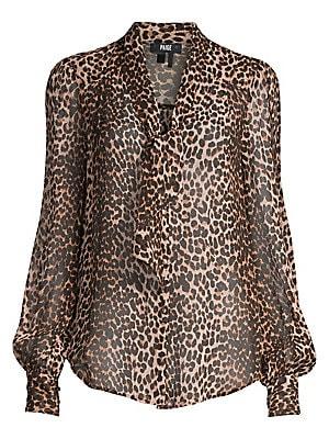 dc9d95604c4221 Paige Jeans - Cleobelle Leopard Silk V-Neck Blouse - saks.com