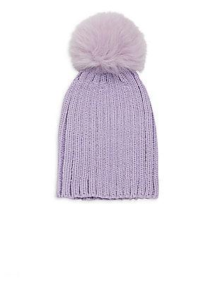 c2d1a32fcef Moncler - Fox Fur Wool Pom-Pom Beretto Beanie - saks.com