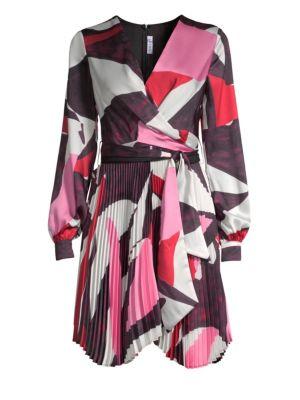 DELFI COLLECTIVE Camille Geometric Print Wrap Dress in Multi