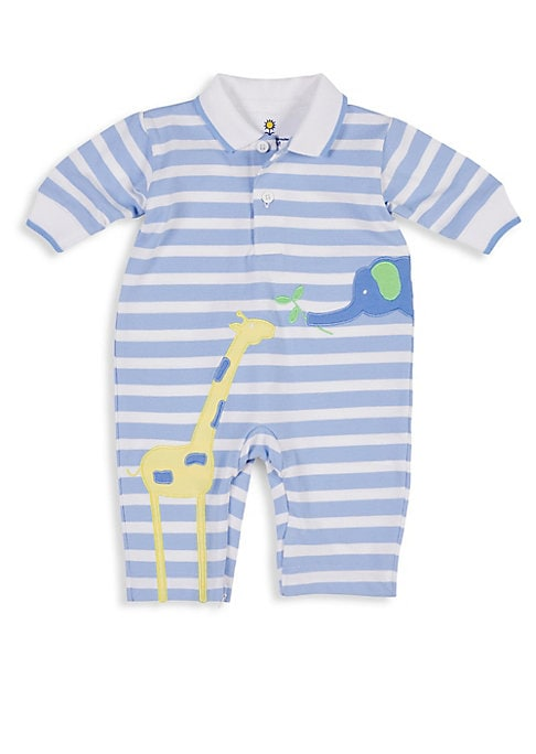 Baby Boys Striped Polo Coverall