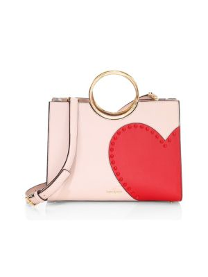 Heart It Sam Top Handle Bag in Pink/Gold