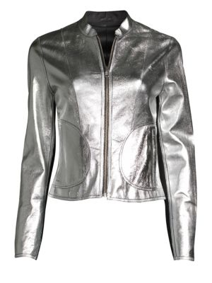 Lamarque Chaplin Reversible Leather Moto Jacket