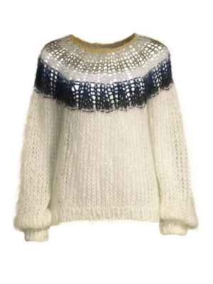 MAIAMI Mohair-Blend Sweater in Cream