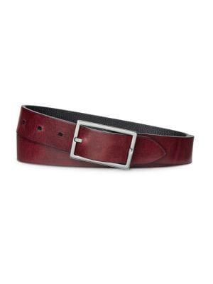 SHINOLA Belts Rectangular Reversible Leather Belt