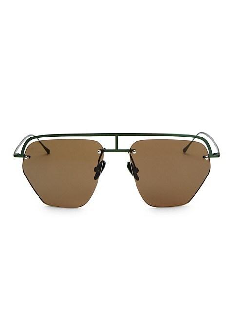 The Line-1 52MM Aviator Browline Sunglasses
