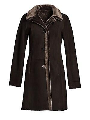 9c592009f47 The Fur Salon - Dyed Shearling Three-Quarter Length Coat