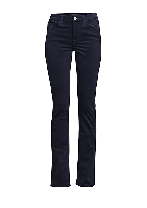 """Image of These twill bootcut jeans lend artisanal accents to these tailored bootcut jeans. Belt loops. Five-pocket style. Zip fly with button closure. Cotton/modal/spandex. Hand wash. Imported. SIZE & FIT. Tailored fit. Rise, about 9.75"""".Inseam, about 32.75"""".Leg o"""