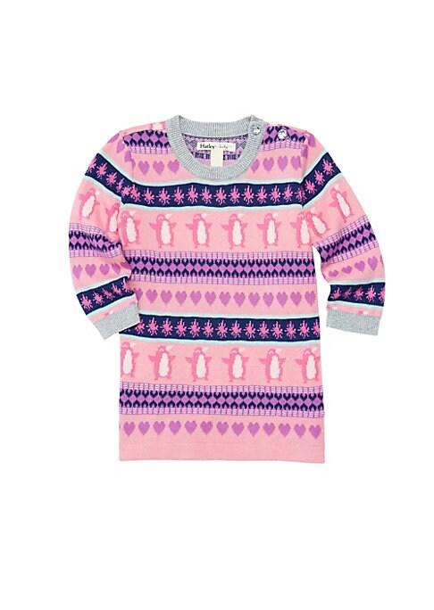 Baby Girls Fair Isle Penguin Sweater Dress