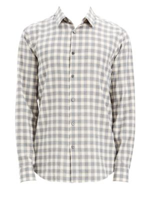 Men'S Irving Check Flannel Sport Shirt in Desert Check
