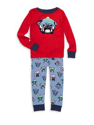 Hatley Little Boy S Boy S Cozy Pups Top Pants Set