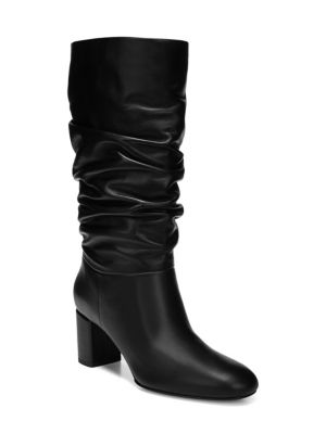 Women'S Naren Slouchy Leather Tall Boots, Black