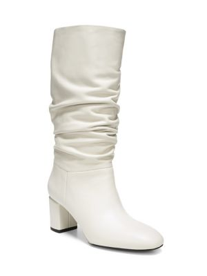 Women'S Naren Slouchy Leather Tall Boots in Bone