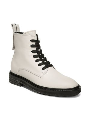 Women'S Kinley Weather-Resistant Leather Combat Boots, Bone