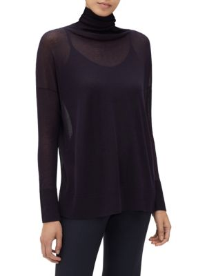 Voile Sheer Turtleneck by Lafayette 148 New York