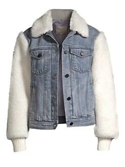 641e76ba9 QUICK VIEW. La Vie Rebecca Taylor. Denim & Faux Fur Jacket