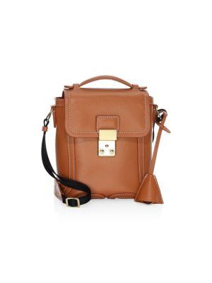 Pashli Leather Camera Bag in Cognac
