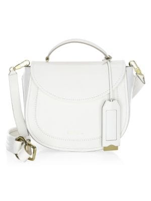 0d10a711fbd9 3.1 Phillip Lim Hudson Leather Top Handle Saddle Bag In White ...