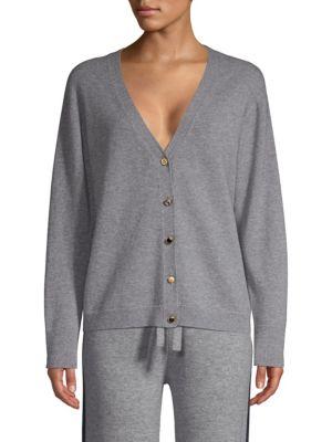 ESCADA SPORT Multi-Button Wool Cardigan in Flann