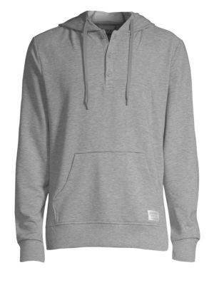 Image of 2XIST Hooded Henley Sweatshirt