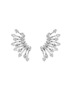 Hueb Women's Luminus 18k White Gold & Diamond Earrings