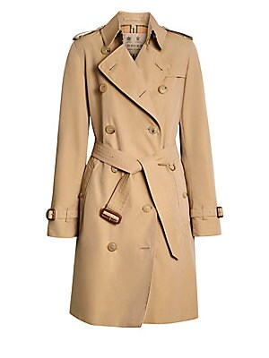 3174862520e1 Burberry - Kensington Mid-Length Heritage Cotton Trench Coat - saks.com