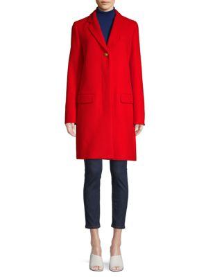 Virgin Wool Blend Trench Coat by Escada Sport