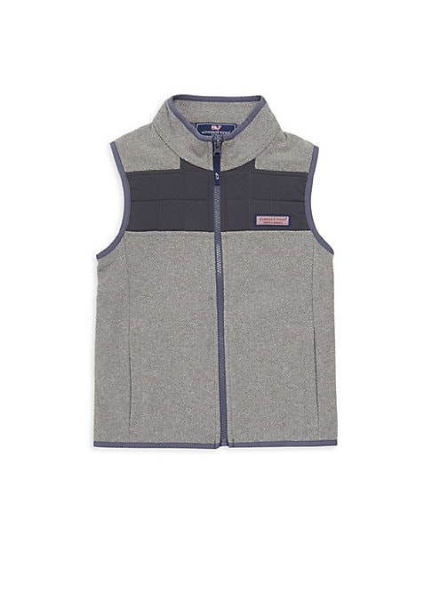 Boys Fleece Quilt Sweater Vest