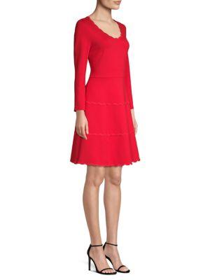 Kate Spade Downs Broome Street Scallop Ponte Dress