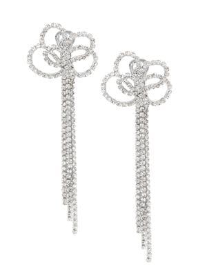 Kenneth Jay Lane Knot and Tassel Clip Earrings