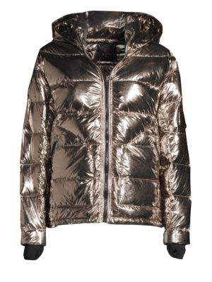 49 WINTERS Boxy Down Puffer Jacket in Smoke