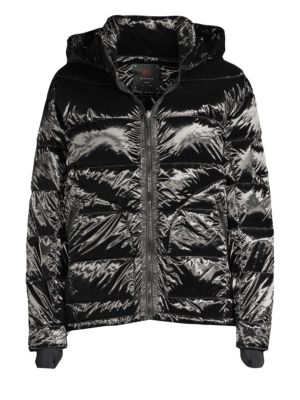 49 WINTERS Boxy Down Puffer Jacket in Black