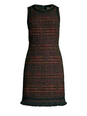 Multi Tweed Fringe Sheath Dress by Kate Spade New York