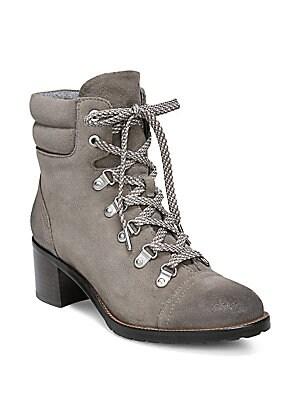 71c5b2d0ddbf Sam Edelman - Manchester Faux Fur Suede Lace-Up Boots - saks.com
