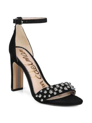 Sam Edelman Shoes Yoshi Studded Suede Heels
