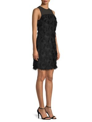 Jacquard Peacock Feather Dress by Michael Michael Kors